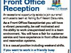 Front Office Reception An exceptional opportunity exists to join our small enthusiastic team at Rolling Surf Resort Caloundra. As a Front Office Receptionist you will have a vibrant personality, be self motivated and the ability to work unsupervised and in a team environment. You will have a flair for customer ...