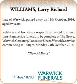 Late of Warwick, passed away on 11th October, 2016, aged 69 years.   Relatives and friends ar...
