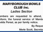 MARYBOROUGH BOWLS CLUB Inc