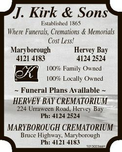 J. Kirk & Sons Established 1865 Where Funerals, Cremations & Memorials Cost Less! Maryboroug...