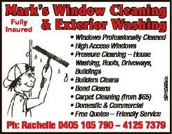 Mark's Window Cleaning Fully Insured & Exterior Washing 5975366ab * Windows Professionally C...