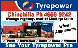 Chinchilla Ph 4668 9242 Warrego Highway, west of Charleys Creek 1726406aa Wheel ents Alignm  Tyres...