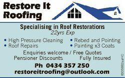 Restore It Roofing Specialising in Roof Restorations Ph 0434 357 250 restoreitroofing@outlook.com 60...