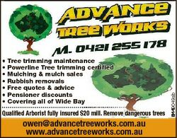 Tree trimming maintenance Powerline Tree trimming certified mulching & mulch sales rubbish remov...