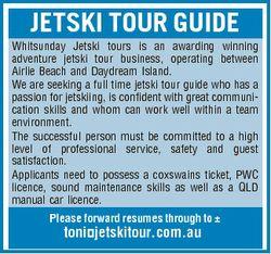 JETSKI TOUR GUIDE Whitsunday Jetski tours is an awarding winning adventure jetski tour business, ope...