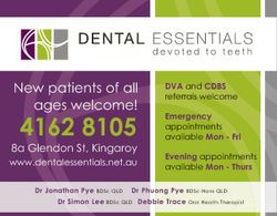 New patients of all ages welcome! 4162 8105 8a Glendon St, Kingaroy www.dentalessentials.net.au Dr J...