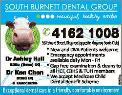 SOUTH BURNETT DENTAL GROUP beautiful, healthy smiles  4162 1008 5924565ag 58 Edward Street, Kingaroy...