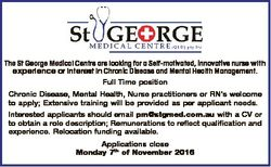 The St George Medical Centre are looking for a Self-motivated, innovative nurse with experience or i...