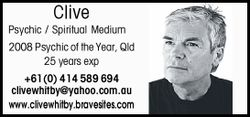 Clive Psychic / Spiritual Medium