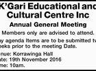 K'Gari Educational and Cultural Centre Inc