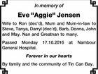 "Eve ""Aggie"" Jensen"