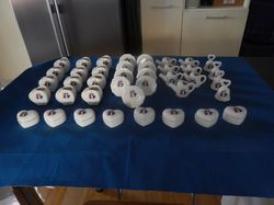 decorative matching motive, sml vases,bells, trinket boxes w. lids b/new,ideal for sml gifts,table d...