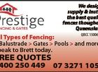 We design, supply & install the best quality fences thoughout Queensland FREE QUOTES 0400 250 449 6324754ab QBCC 15006445 All Types of Fencing: > Balustrade > Gates > Pools > and more... Speak to Brett today. 07 3271 1050