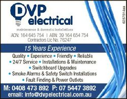 6257514aa ACN: 164 645 754 | ABN: 39 164 654 754 Contractors Lic No. 76247 15 Years Experience Quali...