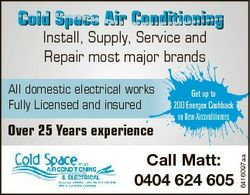 Cold Space Air Conditioning Install, Supply, Service and Repair most major brands Over 25 Years expe...