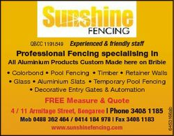QBCC 1191849 Experienced & friendly staff Professional Fencing specialising in All Aluminium Pro...