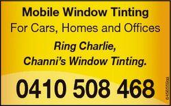 Ring Charlie, Channi's Window Tinting. 0410 508 468 6435347aa 6456559aa Mobile Window Tinting Fo...