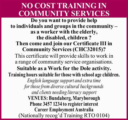 Do you want to provide help to individuals and groups in the community – as a worker...