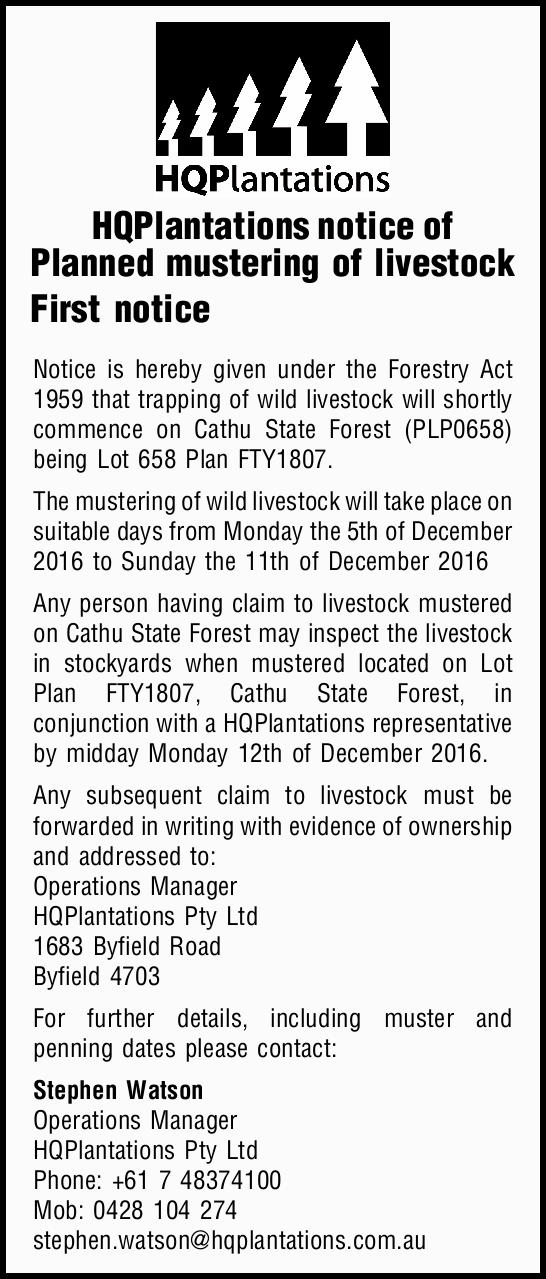First notice