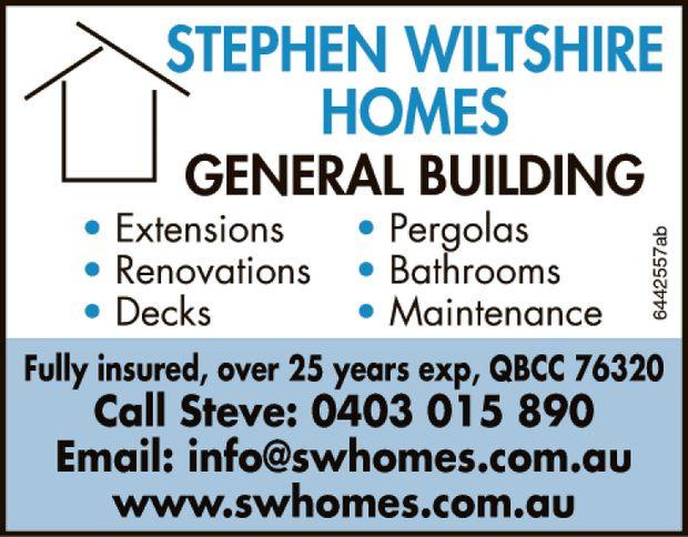 GENERAL BUILDING    Extensions  Renovations  Decks  Pergolas  Bathroom...