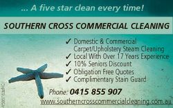 ... A five star clean every time! 4586783afHC SOUTHERN CROSS COMMERCIAL CLEANING  Domestic & Com...