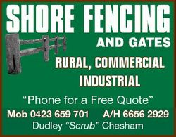 """RURAL, COMMERCIAL INDUSTRIAL """"Phone for a Free Quote"""" Mob 0423 659 701 A/H 6656 2929 Dudle..."""