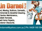 Bond, Moving, Builders, Domestic, Commercial & Industrial Cleaning, All Garden Maintenance, Rubbish Removal, Small Home Repairs, Pensioner Discounts. lindarnei@yahoo.com.au | Ph: 0429 165 594 6388995aa Pty Ltd Lin Darnei