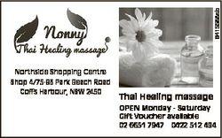 6415588ab Northside Shopping Centre Shop 4/75-83 Park Beach Road Coffs Harbour, NSW 2450 Thai Healin...