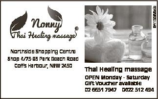 Northside Shopping Centre Shop 4/75-83 Park Beach Road Coffs Harbour, NSW 2450   Thai Healing...