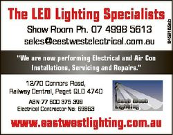 "Show Room Ph. 07 4998 5613 sales@eastwestelectrical.com.au ""We are now performing Electrical an..."