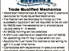 Trade Qualified Mechanics *