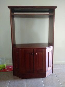 Solid timber TV Cabinet made in Fiji from Pacific Mahogany. Great condition. Check out the photos.