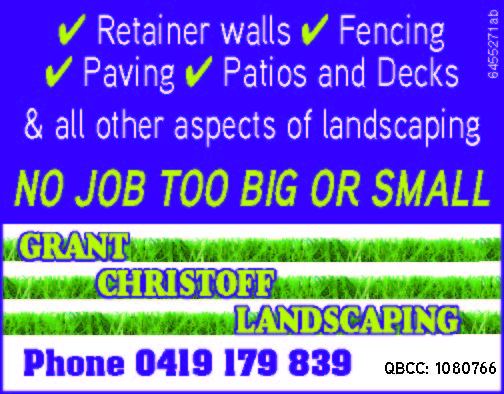 Structural landscaping QBSA: 1080766 