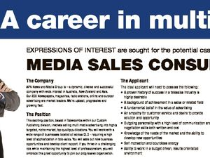 A career in multi-media EXPRESSIONS OF INTEREST are sought for the potential casual position of The Company The Applicant The Package APN News and Media Group is - a dynamic, diverse and successful company with wide interest in Australia, New Zealand and Asia. Our 200 Newspapers, magazines, radio stations, online and ...