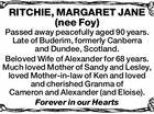 RITCHIE, MARGARET JANE