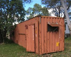 Shipping Container 40', high cube, with side door & lights, $2750 inclusive . Ph 041813...