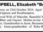 "CAMPBELL, Elizabeth ""Betty"""