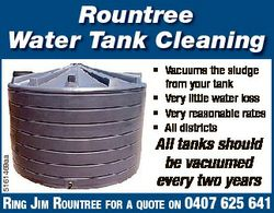 Rountree Water Tank Cleaning * Vacuums the sludge from your tank * Very little water loss * Very rea...