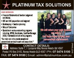 PLATINUM TAX SOLUTIONS OUR SERVICES We will return your calls because we care... Call Kayla today to...