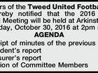 Members of the Tweed United Football Club