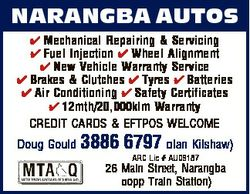 NARANGBA AUTOS  Mechanical Repairing & Servicing  Fuel Injection  Wheel Alignment  New Vehicle W...