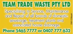 TEAM TRADE WASTE PTY LTD 2851258aaH Specialising in Service, Maintenance and Repair of all brands of...