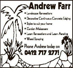 Andrew Farr * Landscape Renovations * Decorative Continuous Concrete Edging * Styles to suit your ho...