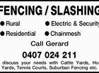 FENCING / SLASHING
