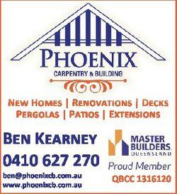 New Homes | Renovations | Decks Pergolas | Patios | Extensions Ben Kearney 0410 627 270 ben@phoenixc...