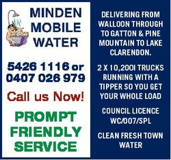 DELIVERING FROM WALLOON THROUGH TO GATTON & PINE MOUNTAIN TO LAKE CLARENDON. 5426 1116 or 0407 0...