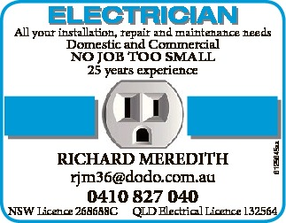 RICHARD MEREDITH ELECTRICIAN