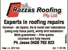 Experts in roofing repairs Ph Jesse 0425 762 623 Nsw Lic: 225159c 6364225aa Services - all repairs, tile & metal roof restorations (using only Dulux paint), whirly bird installation Work guaranteed  Free quotes Licensed and fully insured Qld: 1120195
