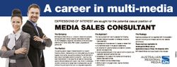 A career in multi-media EXPRESSIONS OF INTEREST are sought for the potential casual position of The...