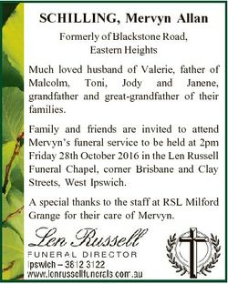 SCHILLING, Mervyn Allan Formerly of Blackstone Road, Eastern Heights Much loved husband of Valerie,...
